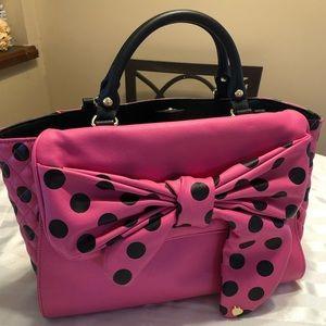 Betsey Johnson polka dot spring bag